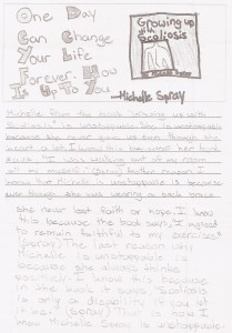 "School wide elementary school project on what it means to be ""#Unstoppable"" and a fifth grader wrote about ME! Proud!"